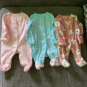 Baby girl pajamas newborn